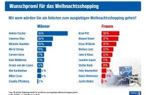 PAYBACK GmbH: Weihnachtsshopping? Am liebsten zusammen mit Brad Pitt und Helene Fischer