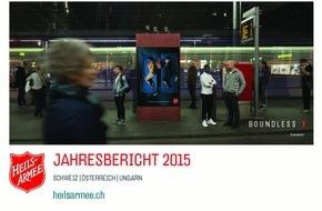 """Heilsarmee / Armée du Salut: Jahresbericht 2015 """"Boundless"""" - die Heilsarmee hilft grenzenlos"""