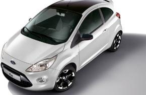 "Ford-Werke GmbH: Ford Ka mit neuem Individual-Paket ""Black & White Edition"" (FOTO)"