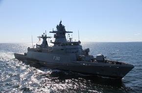 """Presse- und Informationszentrum Marine: Korvette """"Braunschweig"""" läuft zum UNIFIL-Einsatz aus -  Einsatzdauer: circa 1 Jahr"""