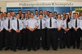 "Polizeipräsidium Rheinpfalz: POL-PPRP: ""Neue"" Polizisten fürs Polizeipräsidium Rheinpfalz"
