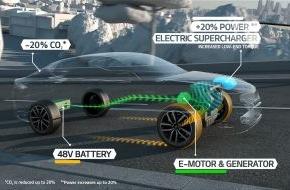KIA Motors Deutschland GmbH: Zukunftsweisender Antrieb: Studie Kia Optima T-Hybrid - Mehr Leistung, weniger Emissionen: Kia präsentiert sein neues Diesel-Mildhybridsystem in Paris erstmals im Fahrzeugeinsatz
