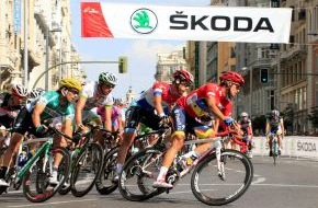 Skoda Auto Deutschland GmbH: Ein starkes Team: SKODA ist Fahrzeugpartner der legendären Spanien-Rundfahrt ('Vuelta')