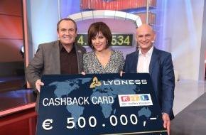 Lyoness Europe AG: Lyoness unterstützt erneut den RTL-Spendenmarathon