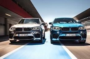 BMW Group: Starke Präsenz: der neue BMW X5 M und der neue BMW X6 M