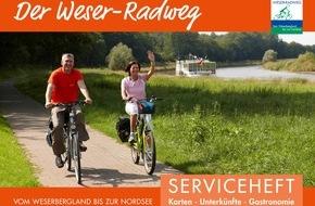 Weserbergland Tourismus e.V.: Kostenfreier Tourenplaner für den gesamten Weser-Radweg neu erschienen / Mit dem kompakten Serviceheft individuelle Touren planen