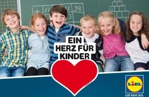 """LIDL: Lidl spendet 350.000 Euro an """"Ein Herz für Kinder"""" / Engagement für brotZeit e.V. und den Verkauf von CD-Hörspielboxen"""