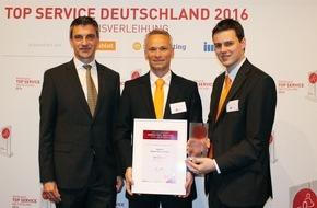 Jobware Online-Service GmbH: 1. Platz unter Personaldienstleistern / Jobware punktet bei TOP SERVICE Deutschland 2016