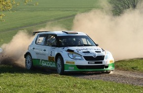 Skoda Auto Deutschland GmbH: Doppelsieg für SKODA: Kreim verteidigt mit Platz zwei bei der Rallye Vogelsberg seine DRM-Gesamtführung (FOTO)