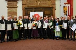 Oberösterreich Tourismus: Auszeichnung für verdiente Touristiker in Oberösterreich