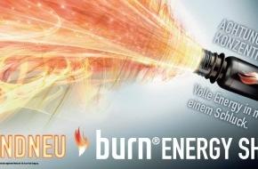 Coca-Cola Schweiz GmbH: Jetzt neu: burn Energy Shot - volle Energie in nur einem Schluck