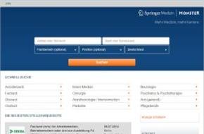 Monster Worldwide Deutschland GmbH: Neue Karriereplattform: Springer Medizin und Monster kooperieren