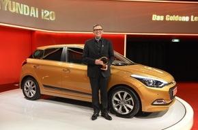 """Hyundai Motor Deutschland GmbH: Hyundai i20 erhält """"Goldenes Lenkrad"""""""