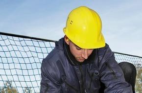 """Berufsgenossenschaft der Bauwirtschaft: Bauwirtschaft: """"Absturzunfälle lassen sich vermeiden"""" (FOTO)"""
