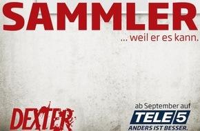 """Tele 5: Selbstjustiz, Sex & Drugs - """"Dexter"""" und """"Californication"""" are back! Die US-Erfolgsserien ab 18. bzw. 20. September immer freitags und sonntags auf TELE 5"""