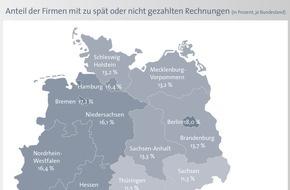 BÜRGEL Wirtschaftsinformationen GmbH & Co. KG: Zahlungsmoral der Unternehmen verbessert sich deutlich - knapp jedes fünfte Unternehmen zahlt im Saarland zu spät oder gar nicht