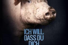 """PETA Deutschland e.V.: 20 Jahre PETA Deutschland e.V. - bundesweite Plakatmotive zum Jubiläum, auf denen die Tiere zu Wort kommen: """"Ich will, dass Du Dich änderst"""""""