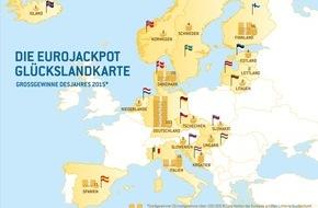 Eurojackpot: Das Jahr des Rekord-Jackpots / Jahresrückblick 2015 der Lotterie Eurojackpot