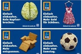 """Unternehmensgruppe ALDI SÜD: ALDI SÜD startet Kampagne zum """"Einfach-Prinzip"""" und schaltet erstmals Außenwerbung"""