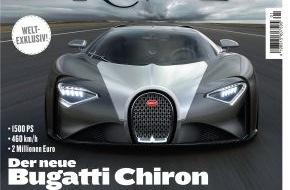 AUTO BILD: Weltexklusiv: MOTOR REVUE zeigt den neuen Bugatti Chiron / Neue Ausgabe erscheint am 14. November 2014 / 32 Seiten Ferrari-Spezial / Exklusive Reportage über Autoschätze in Liverpools U-Bahnschächten