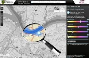 GDV - Gesamtverband der Deutschen Versicherungswirtschaft e.V.: Hochwasserinformationen per Mausklick / Versicherungswirtschaft und Land Sachsen starten gemeinsames Pilotprojekt