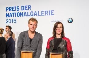 BMW Group: Anne Imhof gewinnt den Preis der Nationalgalerie 2015, der Förderpreis für Filmkunst geht an Bastian Günther / BMW als exklusiver Partner
