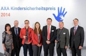 AXA Konzern AG: Mehr Sicherheit für Kinder - AXA verleiht Kindersicherheitspreis (FOTO)