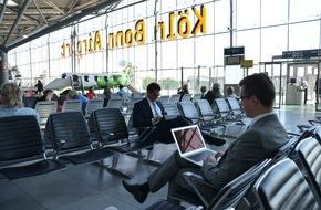 Flughafen Köln/Bonn GmbH: Über 1 Million Passagiere nutzen Gratis-WLAN