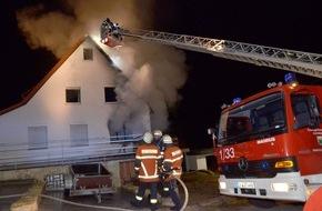 Kreisfeuerwehrverband Calw e.V.: FW-CW: Nachtrag Bildmaterial zur Mitteilung: Eine Person stirbt bei Wohnhausbrand in Bad Liebenzell