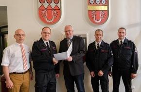 Freiwillige Feuerwehr Menden: FW Menden: Christian Bongard zum Leiter der Feuerwehr Menden ernannt