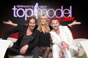 """ProSieben Television GmbH: Drehstart in Berlin. Heidi Klum sucht mit Michael Michalsky und Thomas Hayo """"Germany's next Topmodel"""" 2016"""