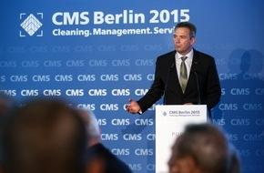 Messe Berlin GmbH: Statement von Markus Asch, Vorsitzender des Fachverbandes Reinigungssysteme im VDMA anlässlich der Eröffnung der CMS Berlin 2015