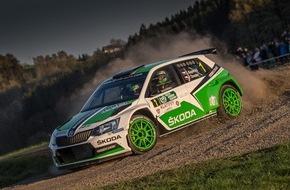 Skoda Auto Deutschland GmbH: Perfekter Auftakt: Neuer SKODA Fabia R5 siegt bei seiner Rallye-Weltpremiere (FOTO)