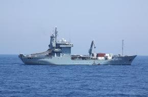 """Presse- und Informationszentrum Marine: Tender """"Werra"""" zurück von EUNAVFOR MED"""
