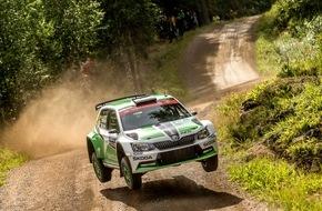 Skoda Auto Deutschland GmbH: Erfolg für SKODA: Lappi gewinnt in Finnland und erobert Führung in der WRC 2