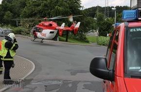 Feuerwehr Iserlohn: FW-MK: Rettungshubschrauberlandung am Nußberg
