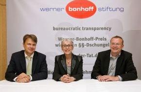 Werner Bonhoff Stiftung: Dokumentarfilmerin macht der Verwaltung Beine: Verleihung Werner-Bonhoff-Preis