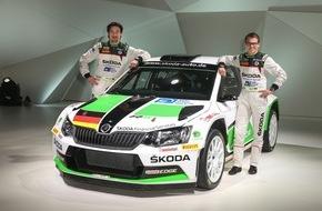 Skoda Auto Deutschland GmbH: SKODA Pilot Fabian Kreim steuert neuen Fabia R5 bei der Deutschland-Premiere (FOTO)