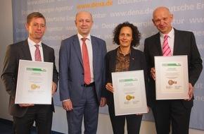 Deutsche Energie-Agentur GmbH (dena): dena vergibt Best-Practice-Label für Energieeffizienz / Aurubis, arvato Systems und KNIPEX erhalten Auszeichnung für besondere Energieeffizienzprojekte