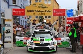 Skoda Auto Deutschland GmbH: DRM: SKODA AUTO Deutschland Duo Kreim/Christian siegt bei der Thüringen Rallye
