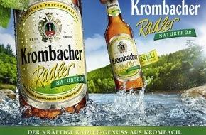 Krombacher Brauerei GmbH & Co.: Der kräftige Radler-Genuss aus Krombach: Krombacher Radler Naturtrüb