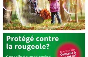 pharmaSuisse - Schweizerischer Apotheker Verband / Société suisse des Pharmaciens: Action sur les conseils de vaccination en pharmacie du 22 septembre au 18 octobre