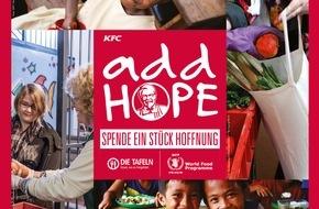KFC Deutschland: Add Hope - KFC spendet Hoffnung für den Kampf gegen den Hunger