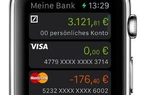 Deutsche Bank AG: Das Konto am Handgelenk: Deutsche Bank bietet Banking mit der Apple Watch