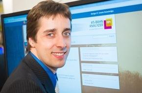 HPI Hasso-Plattner-Institut: CeBIT: S-Bahn-Fahrt wird smart - durch schnelle Twitter-Auswertung / Hasso-Plattner-Institut stellt S-Bahn-Analyzer vor