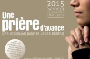 Komitee: Ein Gebet voraus: Les Eglises suisses se rassemblent à la veille du Jeûne fédéral