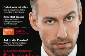 """3sat: Sebastian Pufpaff: """"Mein Name ist Programm"""" / Der Kabarettist im Interview im neuen """"3sat TV- & Kulturmagazin"""" / Die Ausgabe 3/2015 erscheint am 19. Juni"""