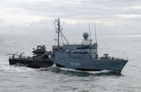 """Presse- und Informationszentrum Marine: Hohlstablenkboot """"Auerbach/Oberpfalz"""" kehrt aus NATO-Einsatz zurück"""
