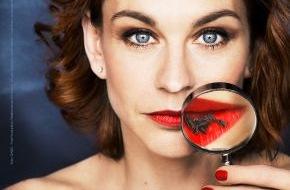 PETA Deutschland e.V.: Schauspielerin Christiane Paul präsentiert sexy rote Lippen -  neues PETA-Motiv für Kosmetika ohne tierische Inhaltsstoffe