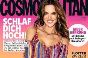 """Bauer Media Group, Cosmopolitan: Alessandra Ambrosio (35) in COSMOPOLITAN: """"Wir finden keine Zeit zum Heiraten"""""""